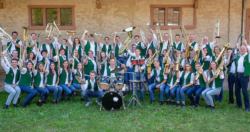 Musikverein Wiesenbach Hauptkapelle im Gutshof Langenzell
